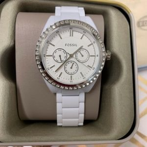 NWT - New White Fossil Ladies Watch